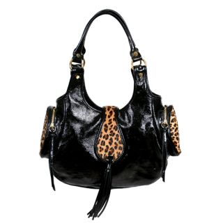 Pietro Alessandro Black Patent Leather Bag