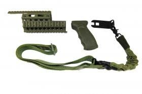 Ak Draco Tactical Set With Single Point Sling In Green