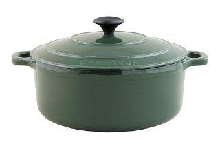 Chasseur 8 5/8 Inch Green Enamel Cast Iron Round Dutch