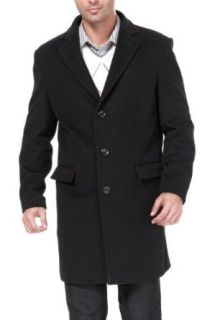 BGSD Mens Three Quarter Length Cashmere Blend Trend Fit