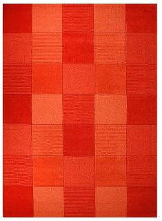 Hand tufted Terra Tile Orange Wool Rug (8 x 106)