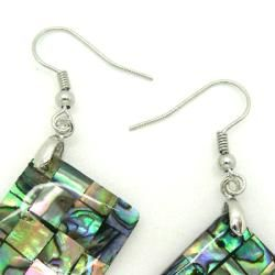 Pearlz Ocean Abalone Shell Square Dangle Earrings