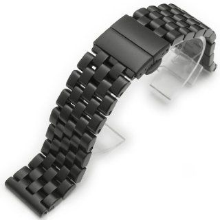 24mm SUPER Engineer Solid Stainless Steel Watch Band Deployment Clasp