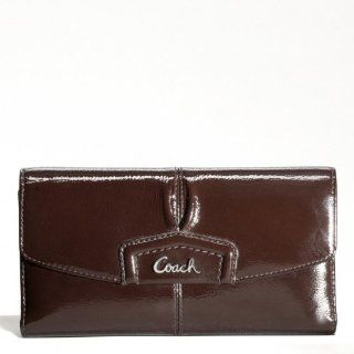 Coach Ashley Patent Leather Checkbook Large Wallet 48251 Shoes