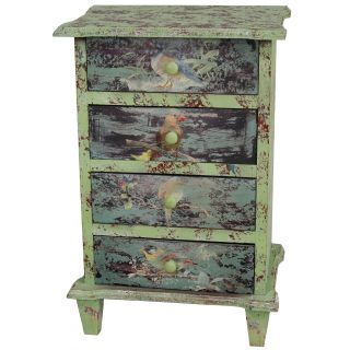 Rustic Perching Birds Night Stand (China)
