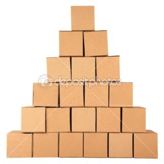 Cardboard boxes.Pyramid from boxes  Stock Photo © Oleksandr