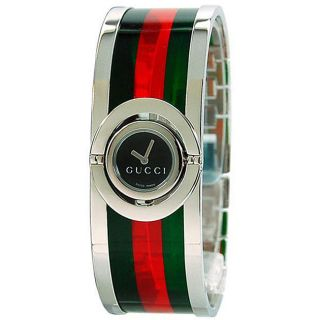 Gucci 112 Twirl Womens Small Red and Green Watch