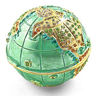 Objet dart Mother Earth Earth Globe Trinket Box
