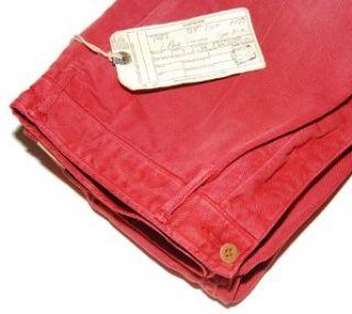 Polo Ralph Lauren RRL Double RL Mens Chino Khaki Pants Red