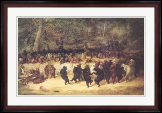 William Holbrook Beard The Bear Dance Framed Art