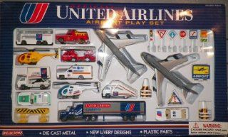 Official United Airlines Airport Playset Toys & Games