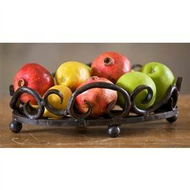 Wrought Iron Siena Fruit Bowl