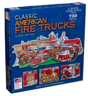 Classic American Fire Truck Jigsaw Puzzle 730pc Toys