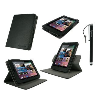 rooCASE 2n1 Dual View Leather Case Cover Stylus for Google Nexus 7