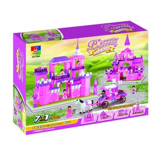 Fun Blocks Beautiful Princess Castle 7 in 1 Brick Set