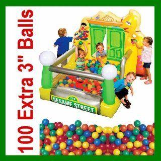 Sesame Street Slide N Play Ball Pit W/ 175 Balls Toys & Games