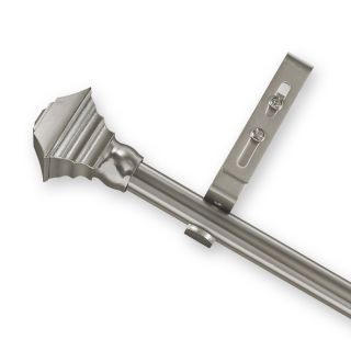 Adjustable Curtain Rod Set with Pewter Square Finial Today $36.99   $
