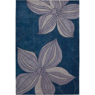Hand tufted Blue Cosmopolitan Rug (73 x 93)