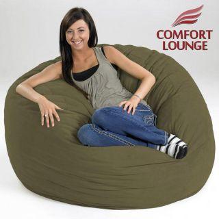 Comfort Lounge Sage Green Medium size Memory Foam Lounge Bag