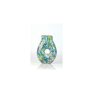 Handmade Summer Garden Hand Blown Glass Art Vase C176