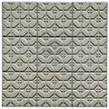 Self Stick Silver Vinyl Wall Tiles 4x4 inch Backsplash 3 Square Feet