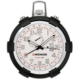 Wenger Traveler Alarm White Dial Pocket Watch
