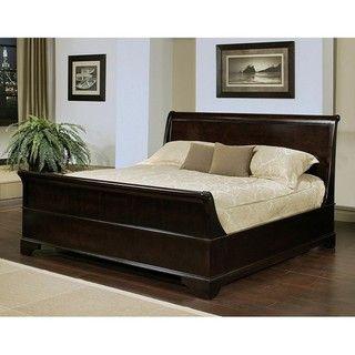 Abbyson Living Kingston Espresso Sleigh King size Bed
