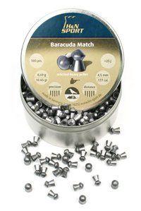 H&N Baracuda Match .177 Cal, 10.65 Grains, Round Nose