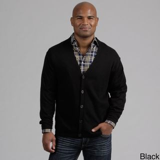 Weatherproof Mens Button Front Cashmere Blend Cardigan