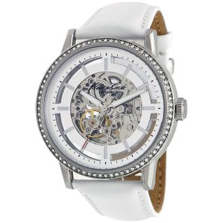 White Crocodile Leather Automatic Watch Today $119.99