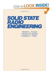 Solid State Radio Engineering (9780471030188) Herbert L
