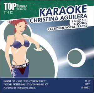 Aguilera Top Tunes Karaoke CDG TT 182 Christina Aguilera Music