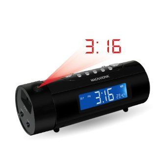 Magnasonic MAG MM178K AM/FM Projection Clock Radio with
