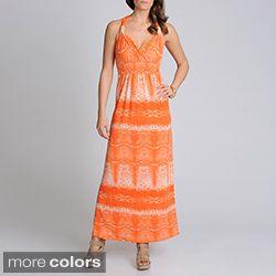 Lennie for Nina Leonard Womens Printed Sleeveless Maxi Dress Today $