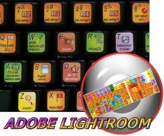 ADOBE LIGHTROOM KEYBOARD STICKER FOR DESKTOP, LAPTOP AND