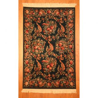 Asian Hand tufted Red/ Dark Brown Wool Rug (49 x 77)