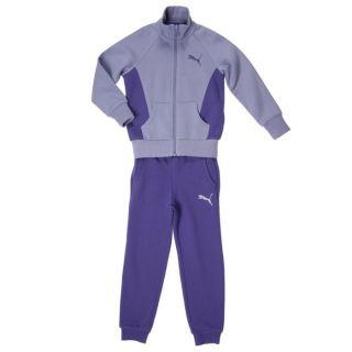 Survêtement violet et mauve. Veste  zippée à col montant en côtes