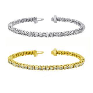 14k Gold 10ct TDW Diamond Tennis Bracelet (I J, I1 I2)