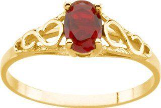14 Karat Yellow Gold Teen Imitation June Birthstone Ring