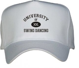 UNIVERSITY OF XXL SWING DANCING White Hat / Baseball Cap