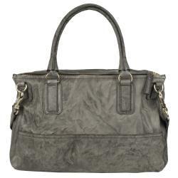 Givenchy Large Pandora Grey Textured Leather Messenger Bag