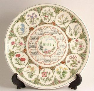 Wedgwood The Cottage Garden Calendar Plate 1994 CP184A