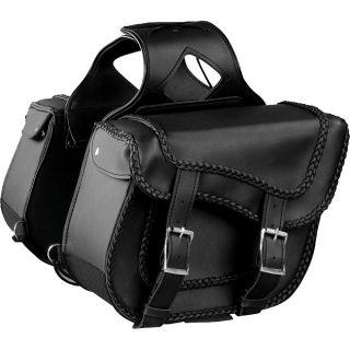 Raider Black Studded Motorcycle Saddle Bags Today $121.25