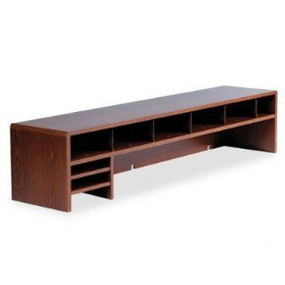 Wood Low Profile Desktop Organizer   10 Sections, 57 1/2w