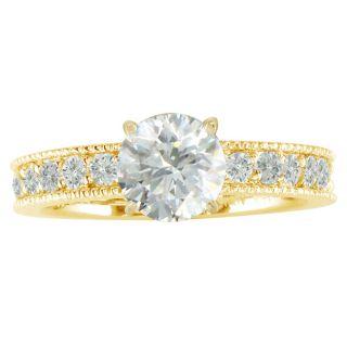 14k Yellow Gold 3ct TDW Diamond Eternity Engagement Ring (H, I1