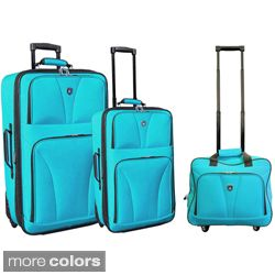 Travelers Club Bowman Collection 3 piece Expandable Luggage Set Today