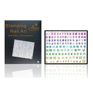 Shany Cosmetics New XXL Image Plate 240 Designs Fun Shapes Set # A