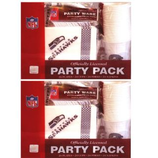 Seattle Seahawks 24 piece Party Pack (Set of 2)