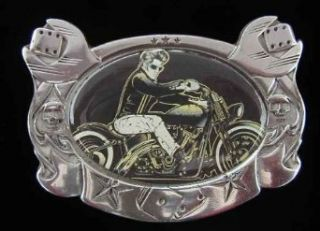 D. Vicente Elvis on Motorcycle Belt Buckle Clothing