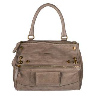 Givenchy Taupe Medium Studded Pandora Messenger Bag